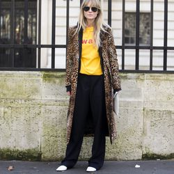 Leopard spotted outside of the shows in Paris.