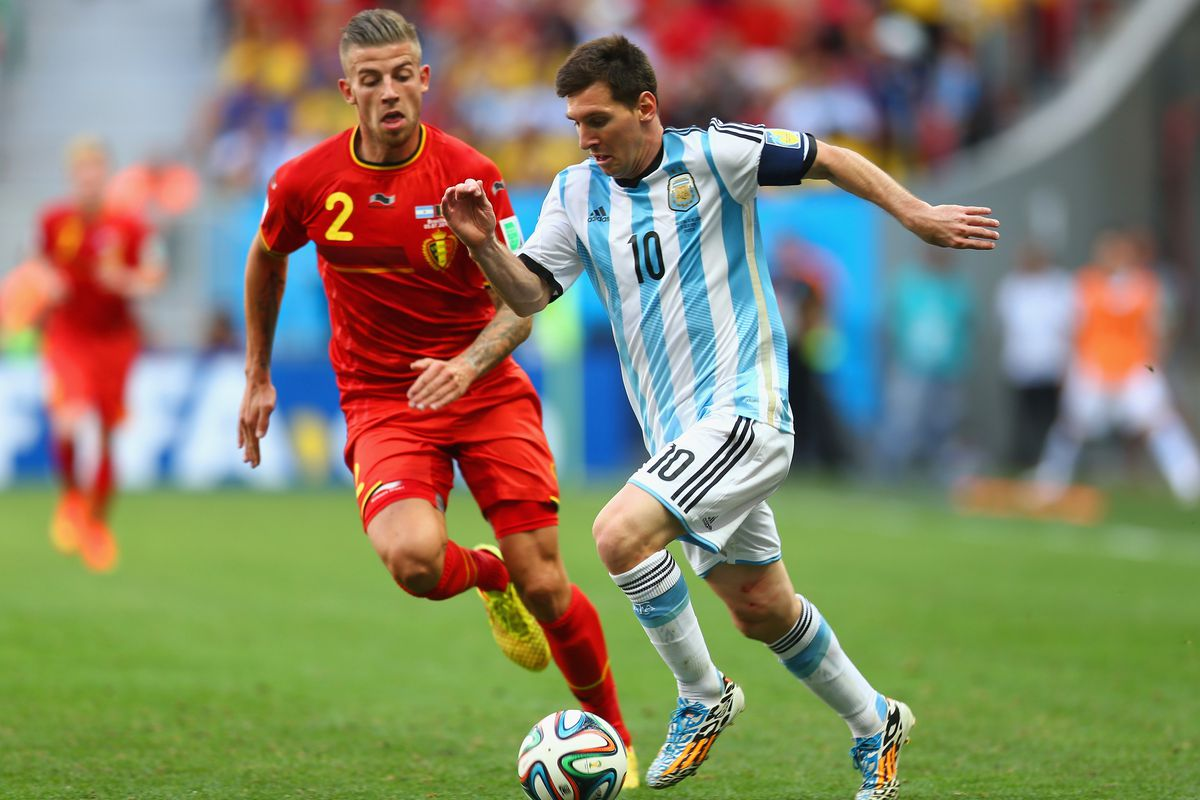 New boy Toby Alderweireld in action for Belgium during the World Cup
