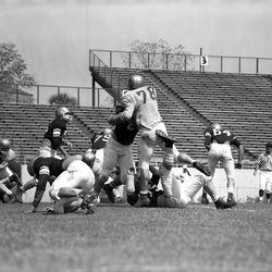 "1959-FSU ""Garnet and Gold"" game in Tallahassee, Florida."