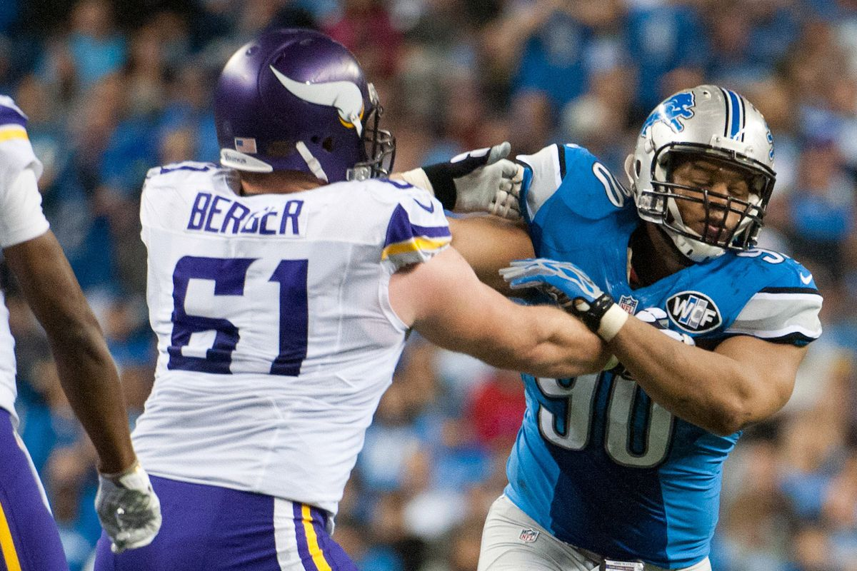 Joe Berger came off the bench to handle Suh pretty well last week in Detroit