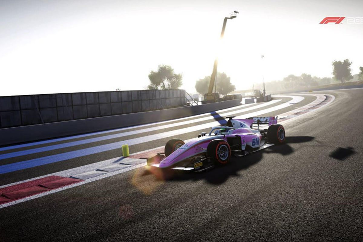 User-created image of a BWT Arden F2 car rounding a corner at Circuit de Paul Ricard, Le Castellet, France