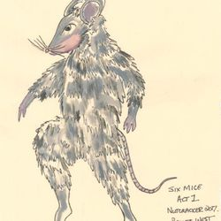 """A sketch of a mouse for Ballet West's """"The Nutcracker."""""""