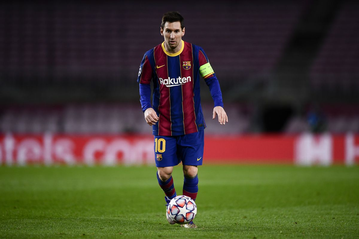 Lionel Messi of FC Barcelona in action during the UEFA...