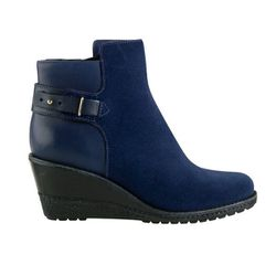 """<b>Cole Haan</b> Rayna Waterproof Ankle Boot in blazer blue suede, <a href=""""http://www.colehaan.com/colehaan/catalog/product.jsp?catId=100&productId=680995&productGroup=680994#"""">$278</a>"""