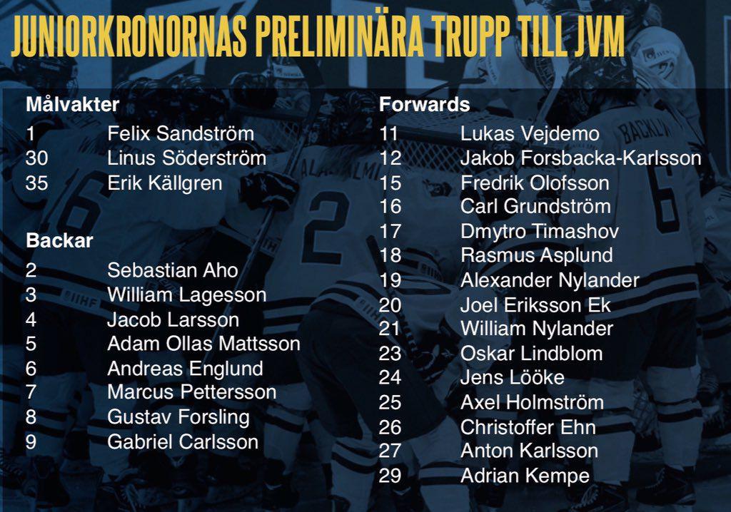 sweden wjc roster
