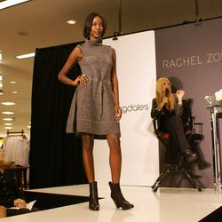 """This grey funnel neck dress has a drawstring to """"make it whatever length you want."""""""