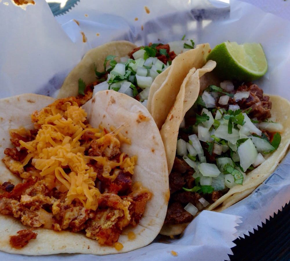 Breakfast tacos from El Primo