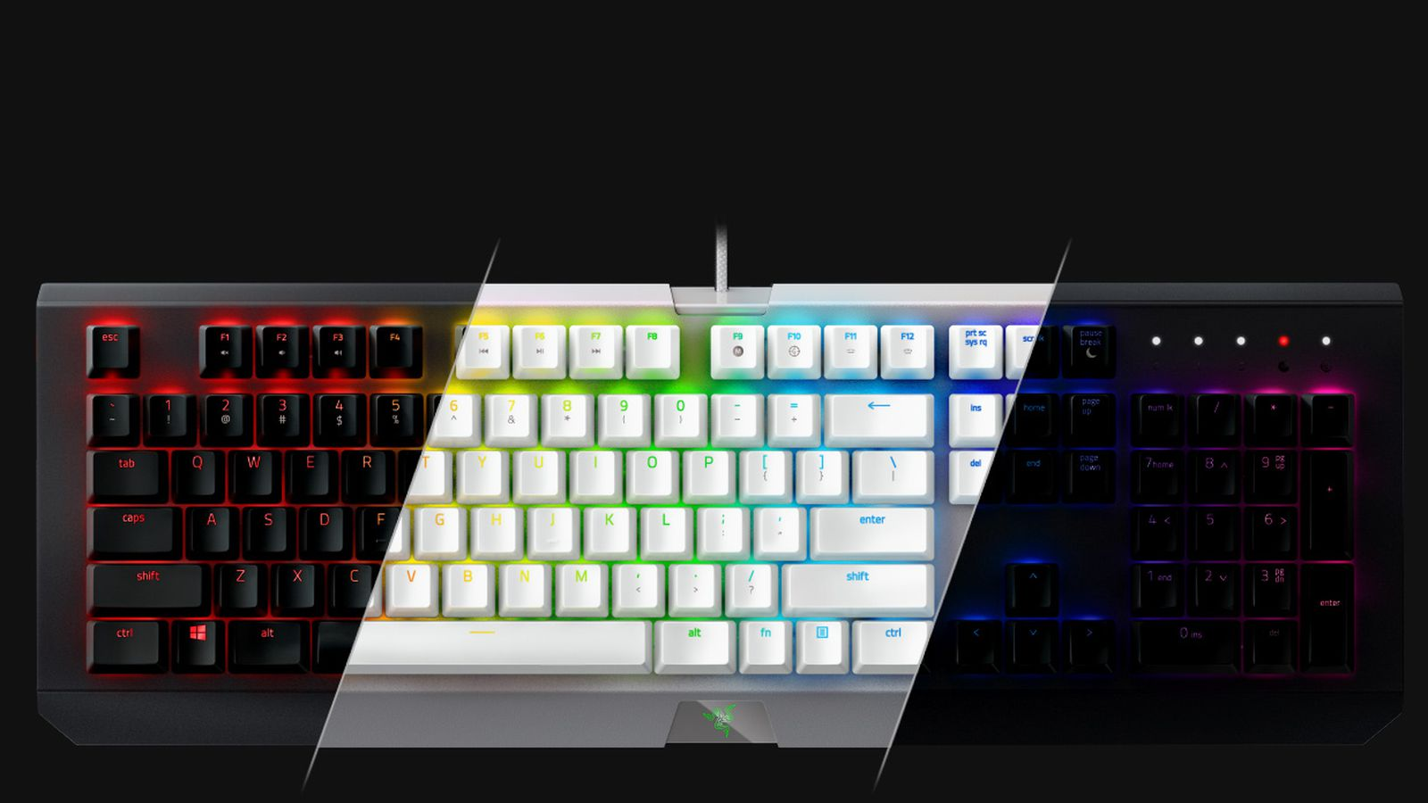 how to change colours on a razor keyboard