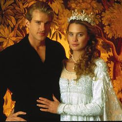 """The Princess Bride (1987): We imagine Princess Buttercup was all, """"Let's take a prom style photograph in front of this woodsy backdrop,"""" and Wesley was like, """"As you wish."""""""