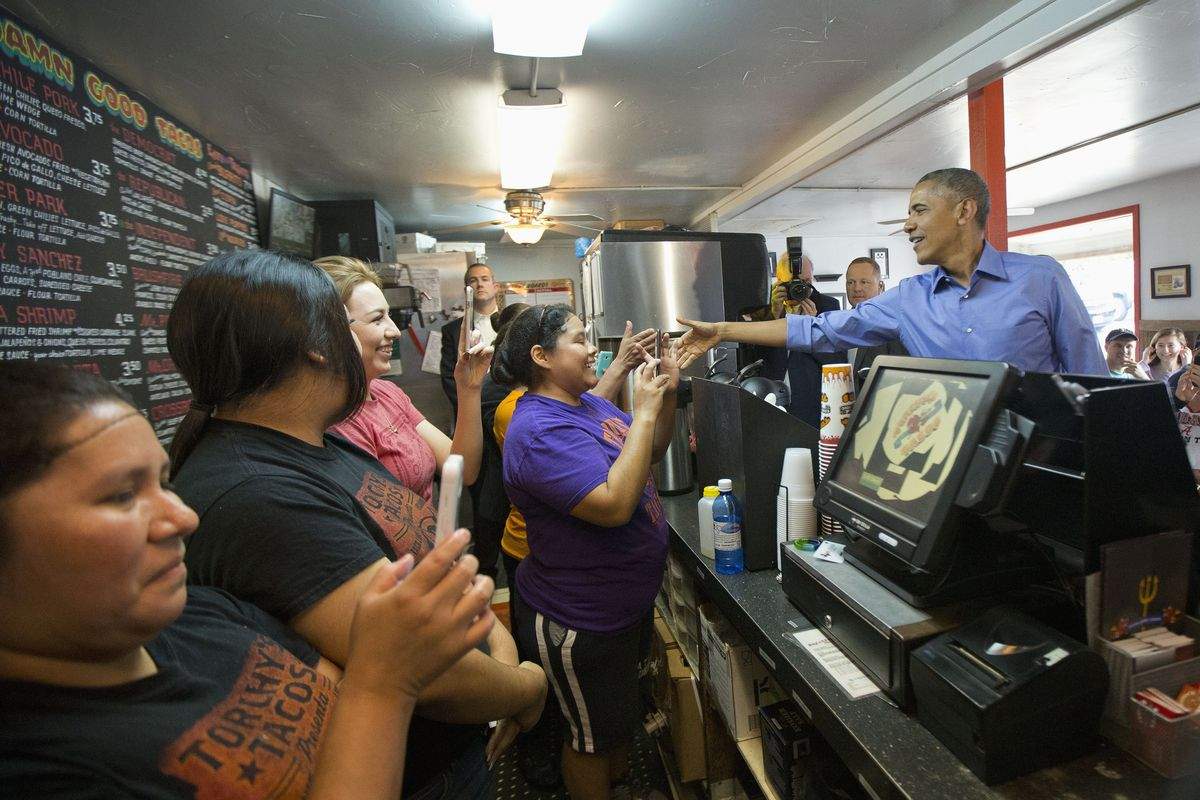 President Barack Obama's lunchtime stop at Torchy's Tacos