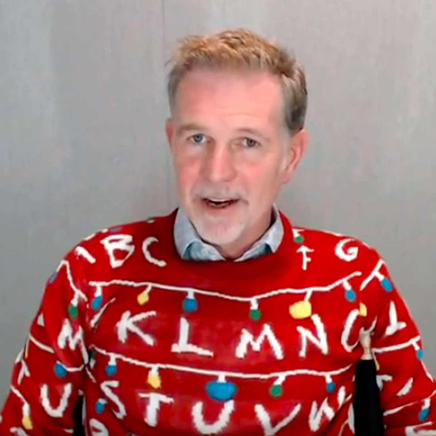 Netflixs Reed Hastings Wore A Stranger Things Sweater On An