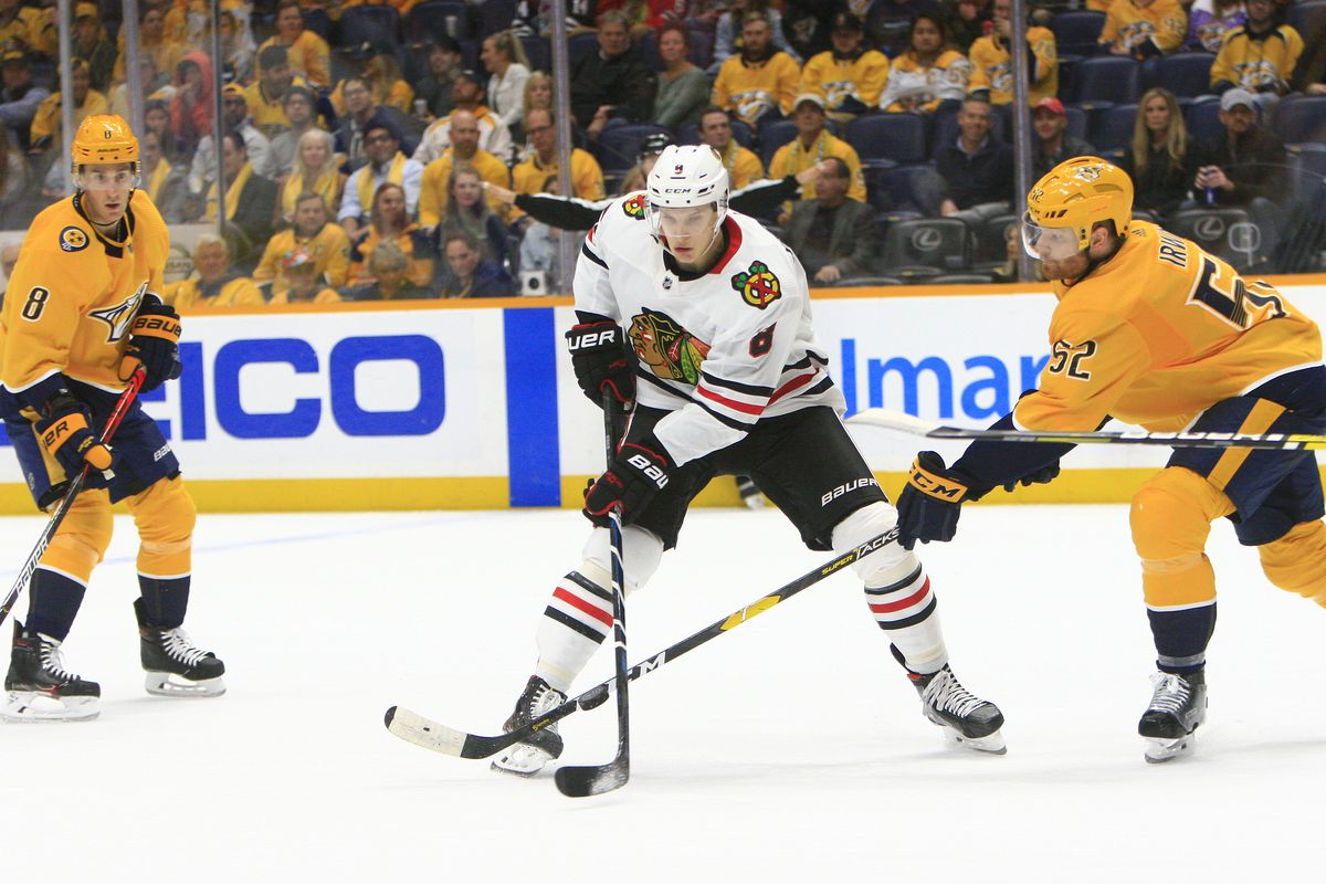 NHL: OCT 29 Blackhawks at Predators