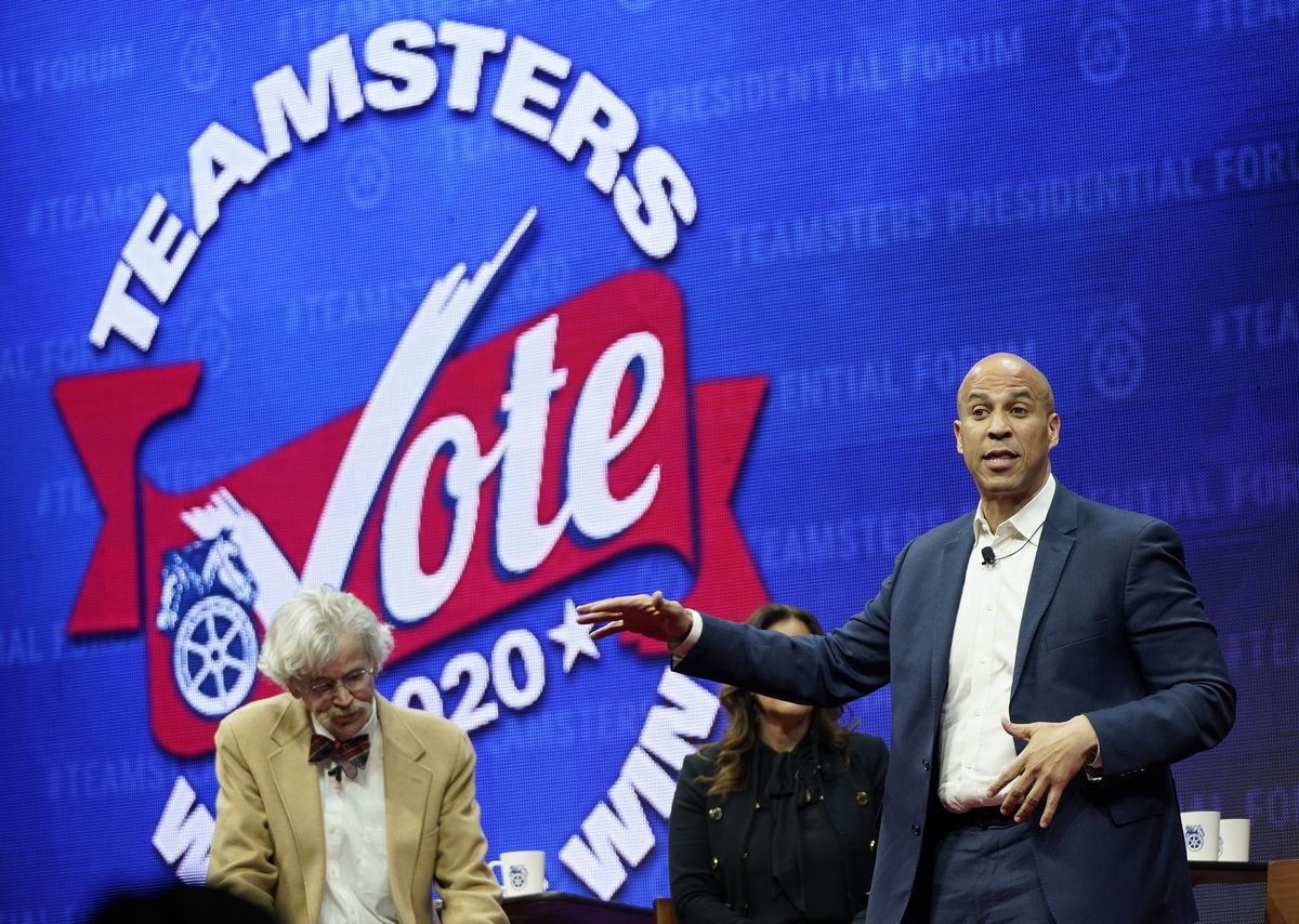 Cory Booker at the Teamsters Presidential Forum in Iowa