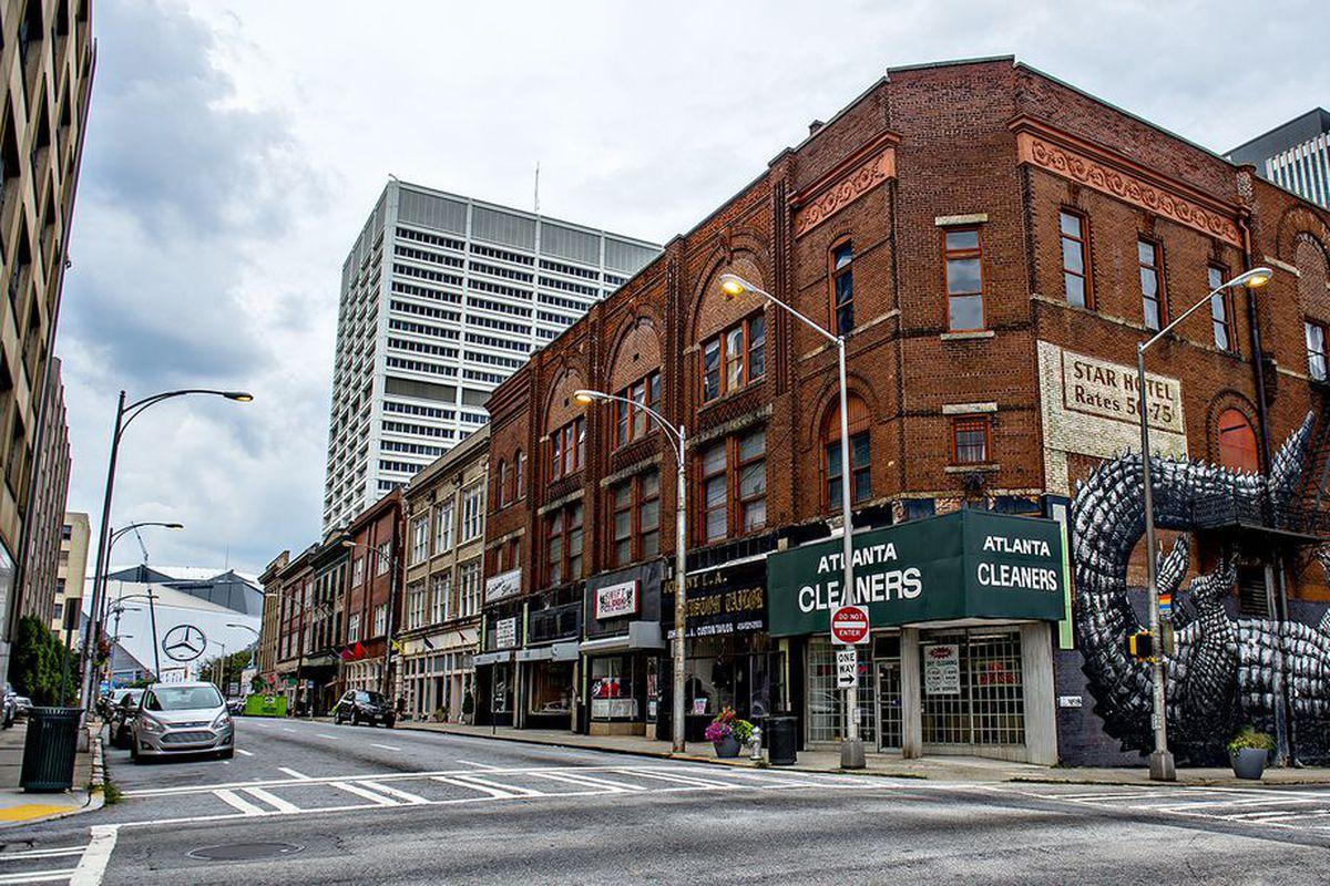 Mitchell Street aims straight toward The Benz.