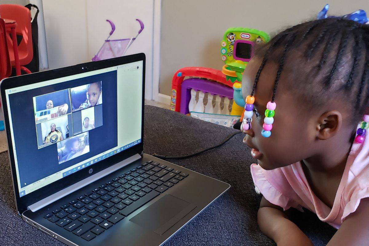 The Edna Martin Christian Center in Indianapolis is holding Zoom sessions for preschoolers in its child care ministry.
