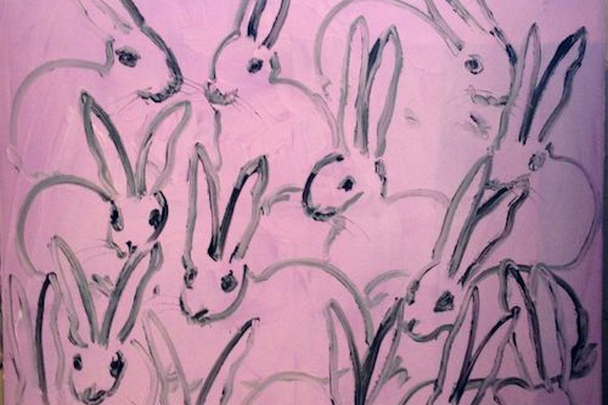 "Image via <a href=""http://www.1stdibs.com/art/paintings/hunt-slonem-bunny-on-pink/id-a_38722/"">1stDibs</a>"