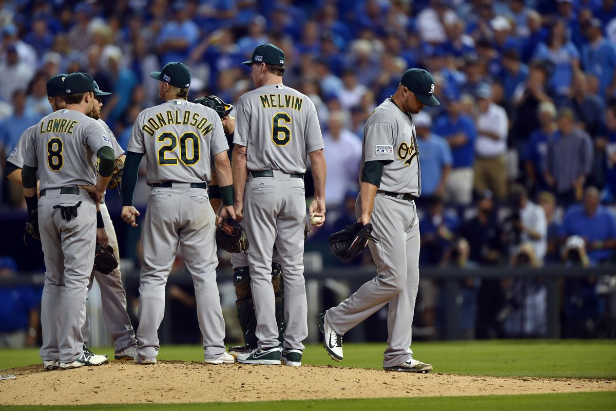The last time we'll see Lester in an Oakland A's uniform.