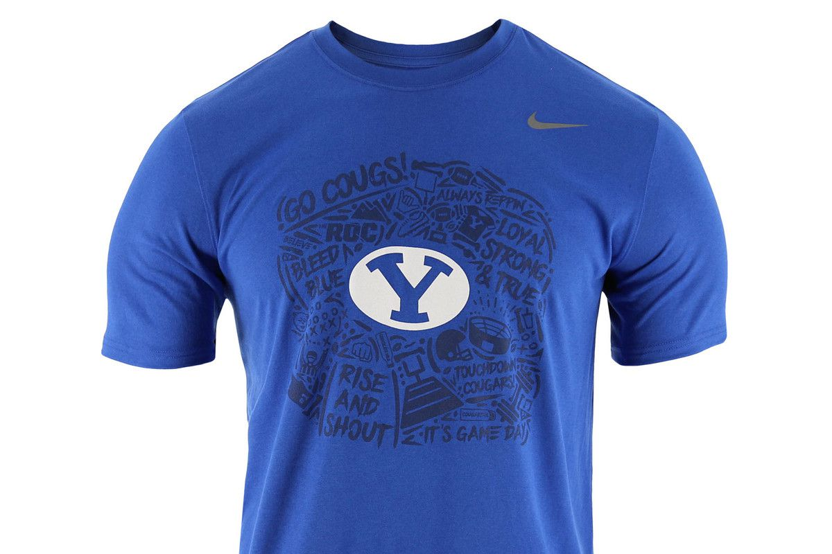 d0752b55c38 Last week BYU announced the new game day shirt for 2019 and started selling  them at the BYU Store. Ever since the Bronco Mendenhall era that gave us  such ...