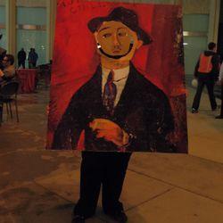 "Tom Cavanaugh as Amedeo Modigliani's portrait of <a href=""http://www.ngv.vic.gov.au/orangerie/modiglianiimage.html"">Paul Guillaume</a>."