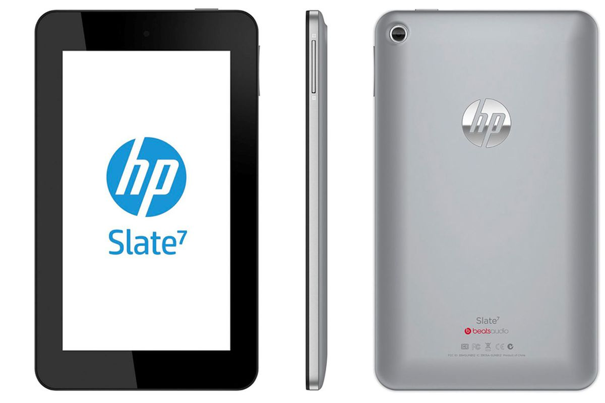 HP Slate 7 tablet stock press 1020