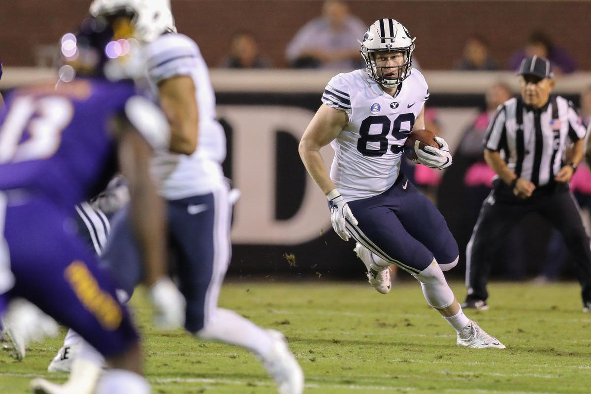 BYU junior Matt Bushman is one of the best tight ends in the
