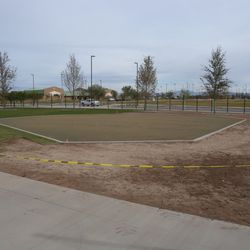 This will be a kids' play area with a wiffle ball field