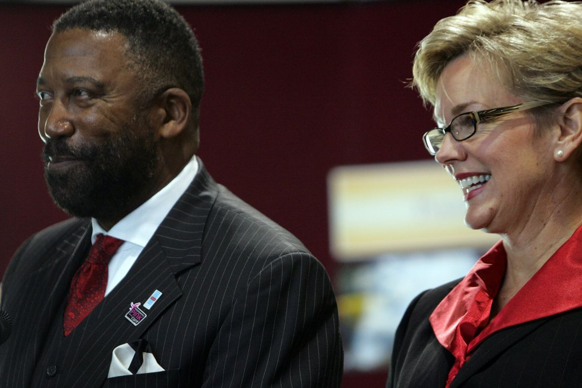 Robert Bobb was appointed emergency manager of Detroit Public Schools by former Gov. Jennifer Granholm (right) in 2009.