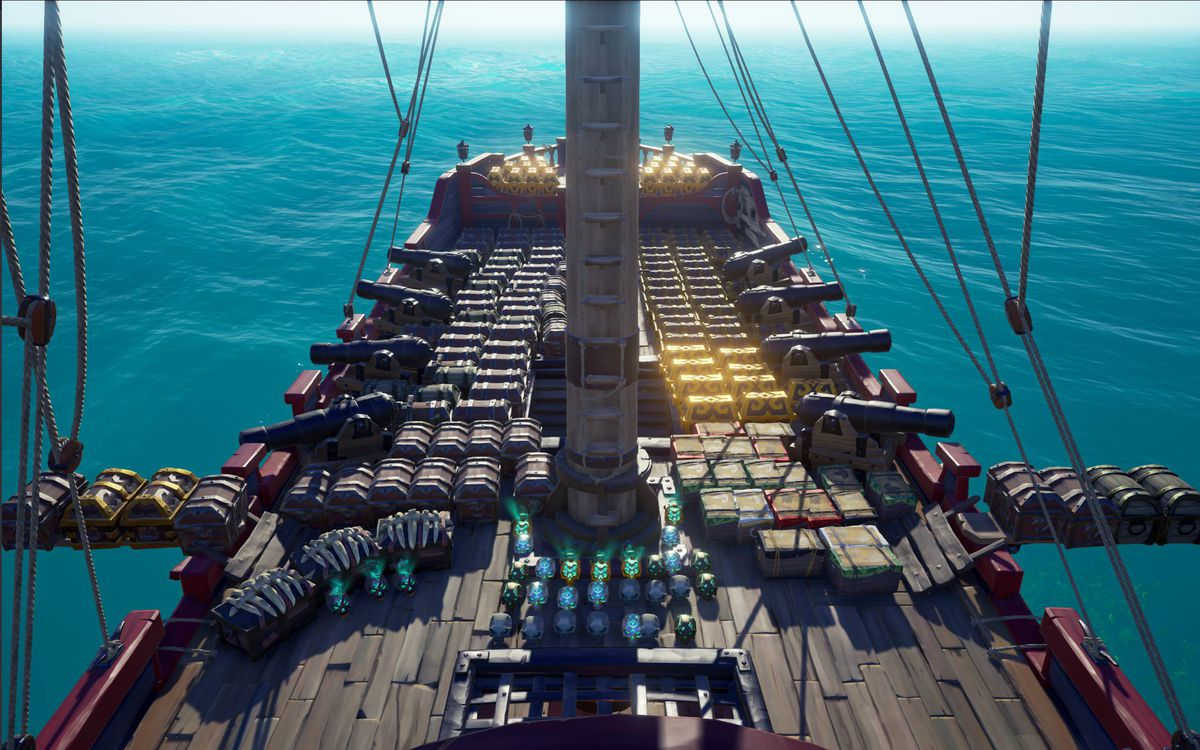 Sea of Thieves loot on ship