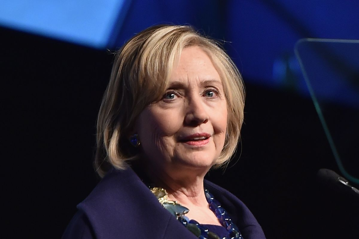 Hillary Rodham Clinton speaks onstage at the RFK Ripple Of Hope Gala.