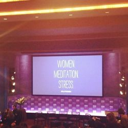 """<a href=""""http://www.davidlynchfoundation.org/women.html"""">David Lynch Foundation</a> hosted an amazing event: Women, Meditation and Stress. I got to attend the conference and do the makeup for the panelists: <b>Candy Crowley, Lena Dunham, Pam Peeke, Rehana"""