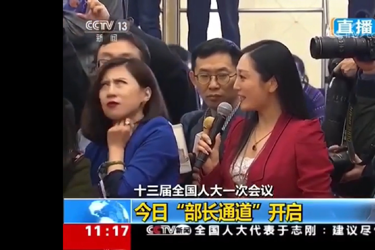 a chinese reporter s frustrated eye roll goes viral in china and is censored