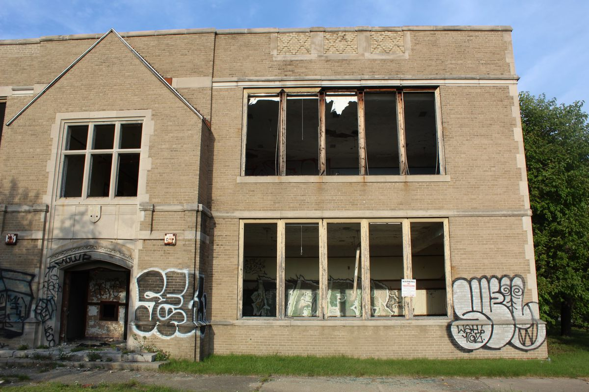 The president of the Detroit Latin School Board proposed raising $75 million to renovate the dilapidated Brady Elementary School. It's not clear how much has been raised.