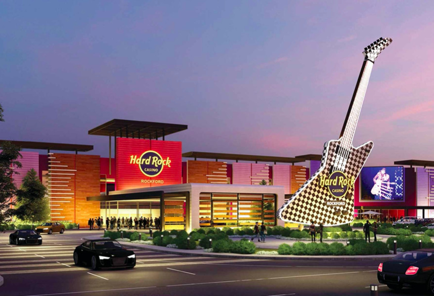 Artist's rendering of the proposed Hard Rock Casino Rockford.