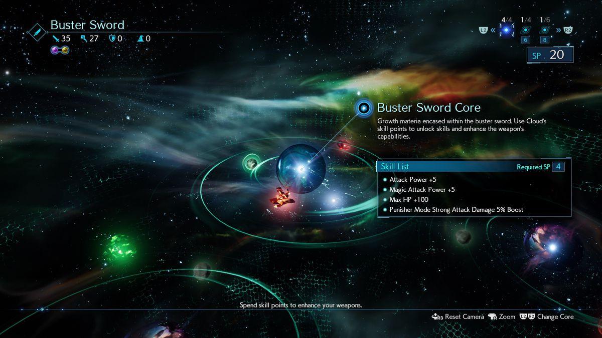 Final Fantasy 7 Remake AP SP Upgrade Weapons level up Weapon Skills menu