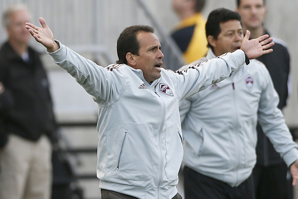 """""""YMCA, I mean.. DSGP, It's Fun to Play at the..."""" Rapids coach Oscar Pareja Getting into the Match"""