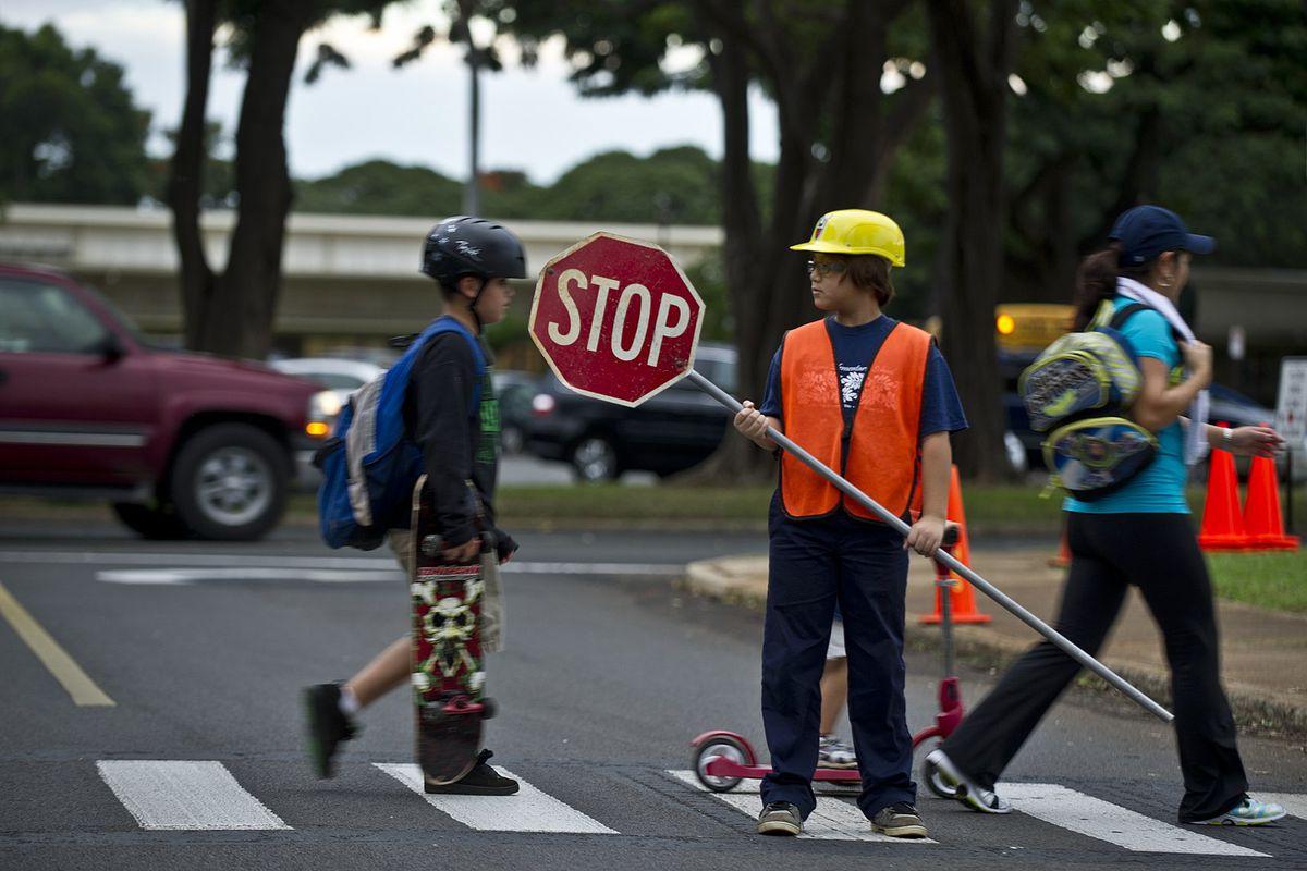 Hawaii school crosswalk