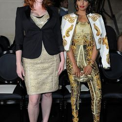 MIA goes broque and accessorizes with new best friend, aka Christina Hendricks.