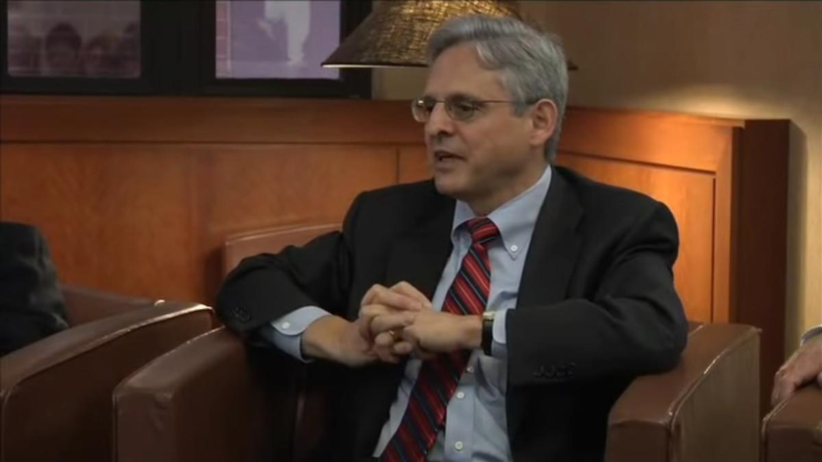 Merrick Garland speaks at a 2012 event