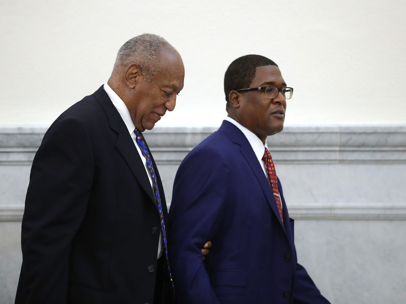 Bill Cosby and Andrew Wyatt during day one of Cosby's sentencing hearing on September 24, 2018.
