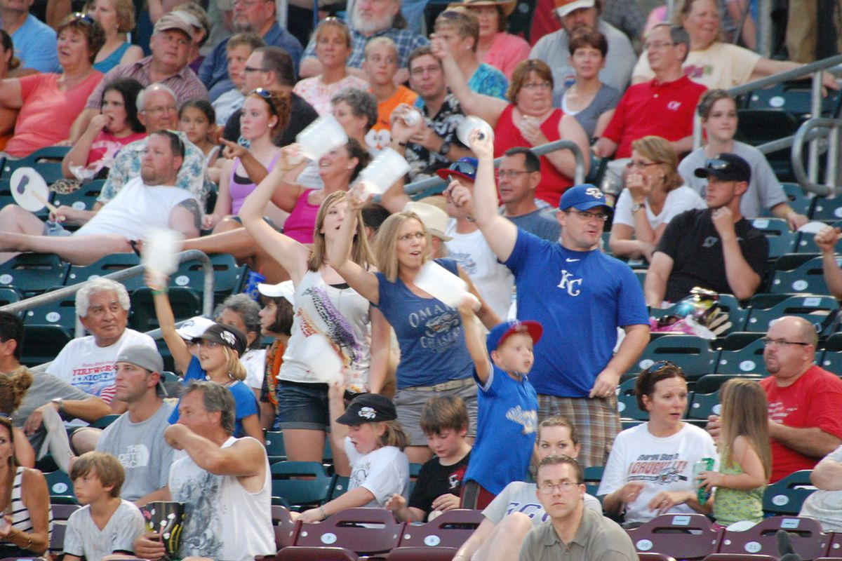 Enthusiastic fans in Omaha showing their support
