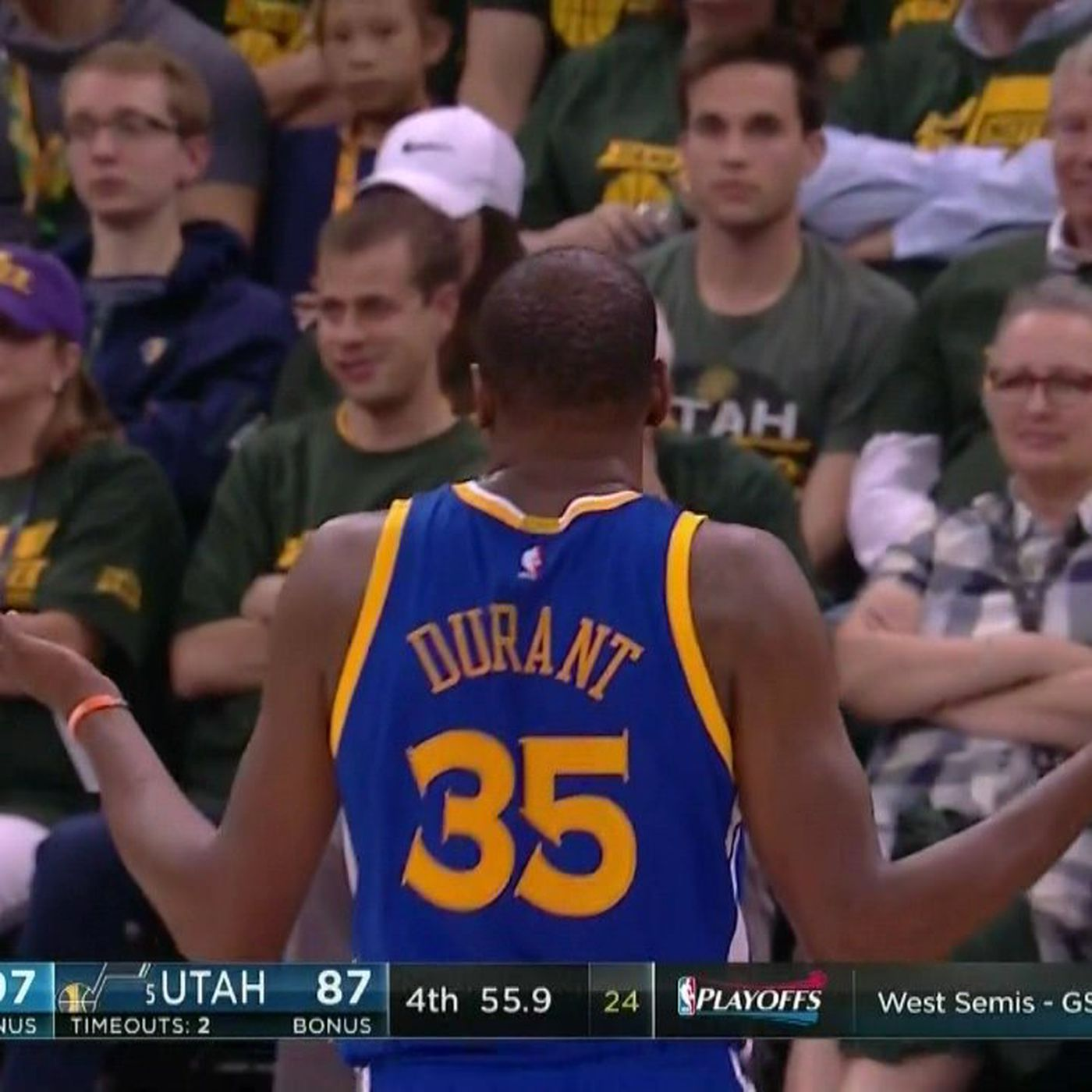 db5c03bdc2f5 Kevin Durant beautifully embraced the villain role in Game 3 against Jazz -  SBNation.com