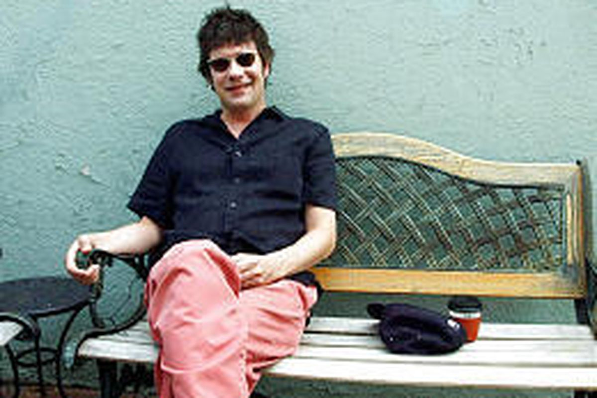 Paul Westerberg relaxes outside a coffee shop in Minneapolis.