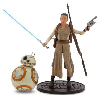 """This photo shows Rey, right, and BB-8 Elite Series Die Cast Action Figures from """"Star Wars: The Force Awakens"""" by Disney Store. 