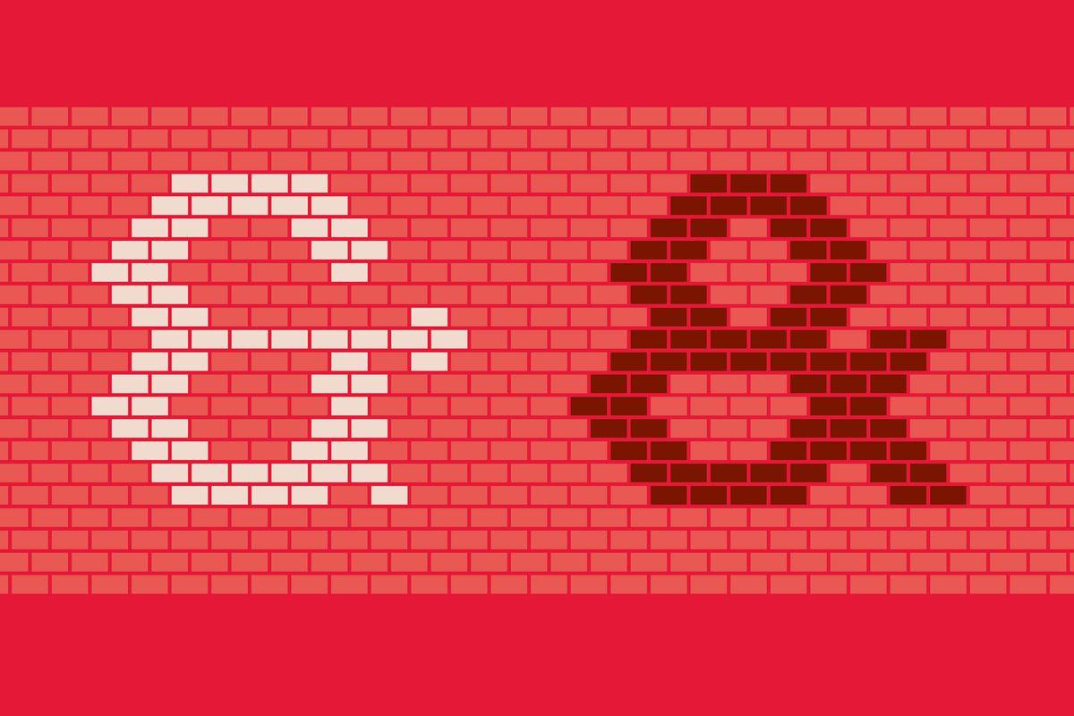 Illustration of brick font