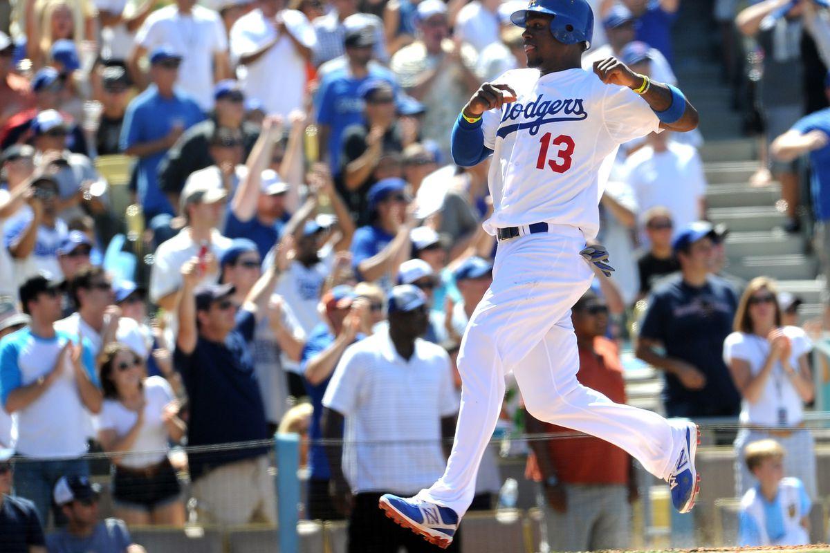 Hanley Ramirez got his first walk-off hit as a Dodger on Sunday.