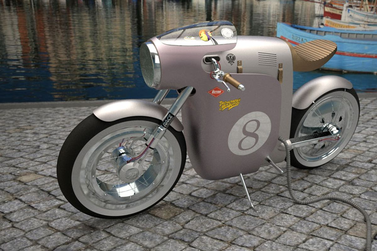 Monocasco Electric Bike Concept Inspired By 60s Grand Prix Racer
