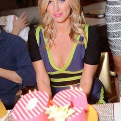 Nicky Hilton celebrates her 30th birthday at Andrea's. Photo: Aaron Garcia