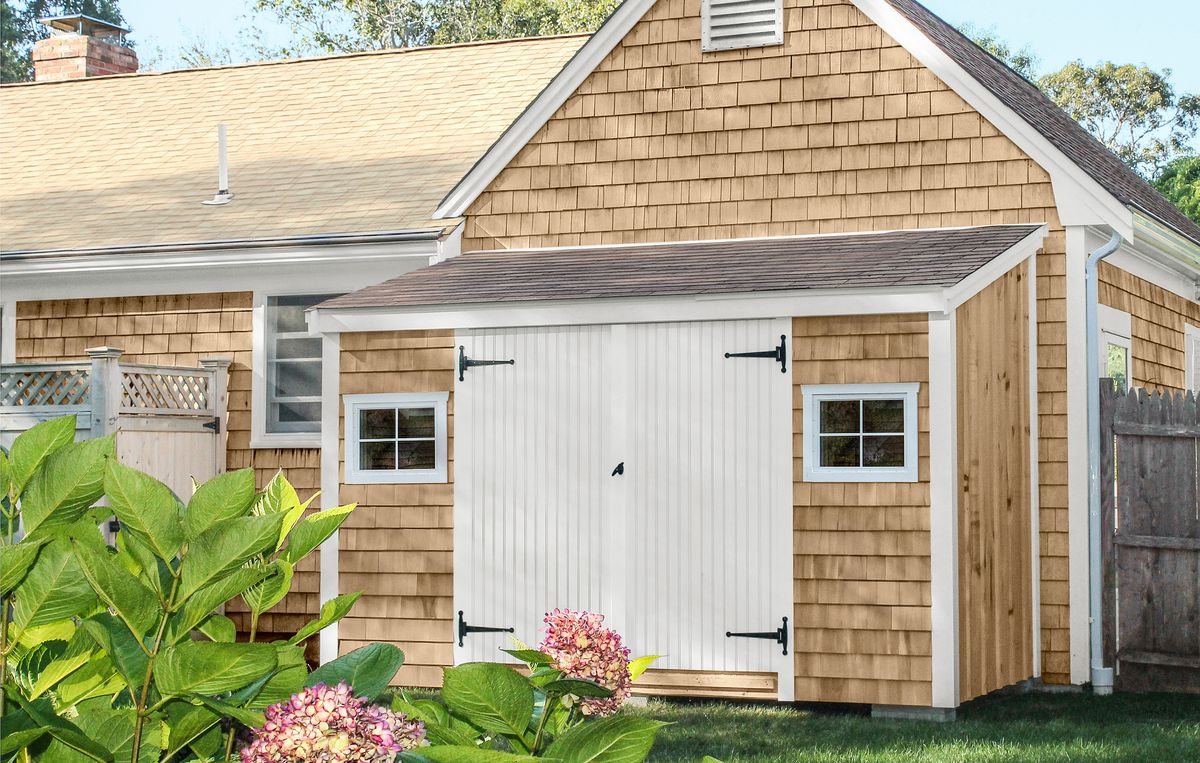Garden Shed With Single Plane Shed Roof