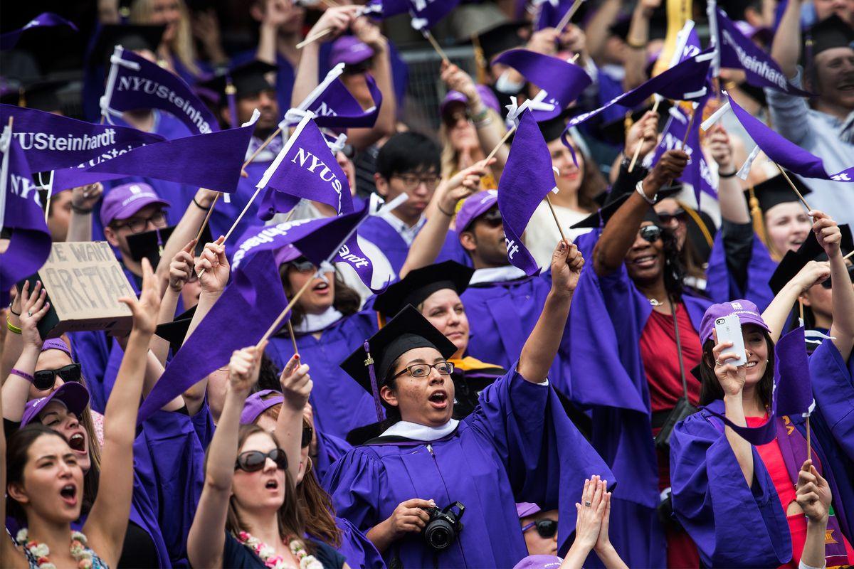 Graduates at New York University this spring.