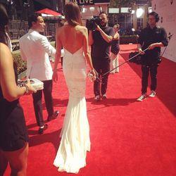 """First dress down @giulianarancic #emmys""-Monica Rose"